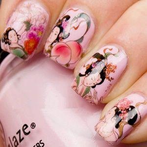 Makeup - Asian Design Nail Art Stickers
